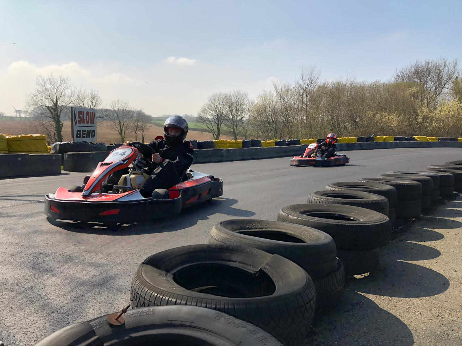 go-karting at Adrenalin Quarry in Cornwall