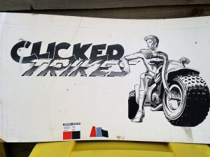 clicker trikes adrenalin quarry cornwall original art