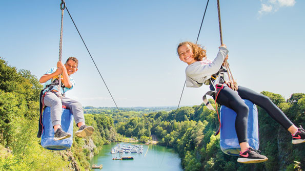 The Zip at Adrenalin Quarry